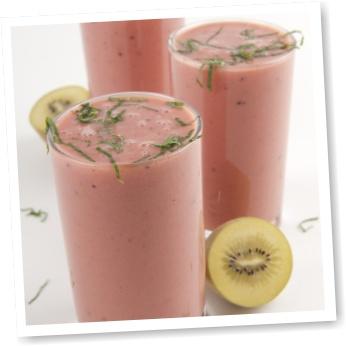 Smoothie con kiwi-gold e cocomero (kiwi and watermelon smoothie - recipe in italian)