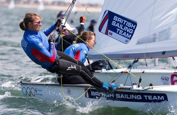 GB sailing duo Hannah Mills and Saskia Clark