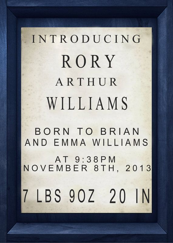 Digital TARDIS Sign Doctor Who Baby by EverburgPhotography on Etsy