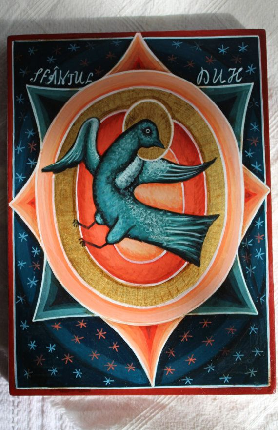 Holy Spirit. Byzantine icon handmade painted. Orthodox icon catholic icon Russian icon Available the icon shown in the photos.