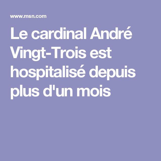 Le cardinal André Vingt-Trois est hospitalisé depuis plus d'un mois