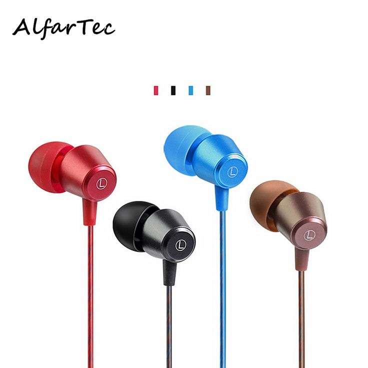 Colorful In-Ear Metal Stereo Heavy Bass Sport Earphones Noise Isolating Protable Earpiece With Earplugs Mic For Smart Phones MP3