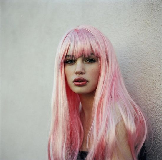 .. I wish i could pull of pink hair!!!   cotton candy pink