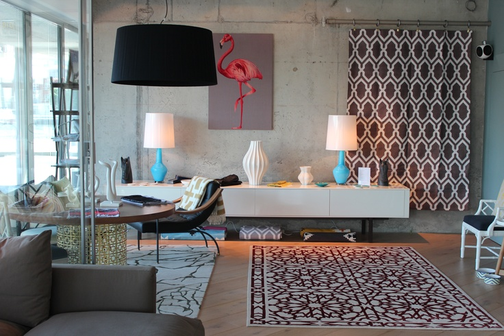 My new luxe lifestyle store featuring The Rug Company, Jonathan Adler, Bethan Gray & Linley. Love Kelly Wearstler's Tracery rug in the window and Martyn Lawrence Bullard's Mamounia rug on the main floor space.