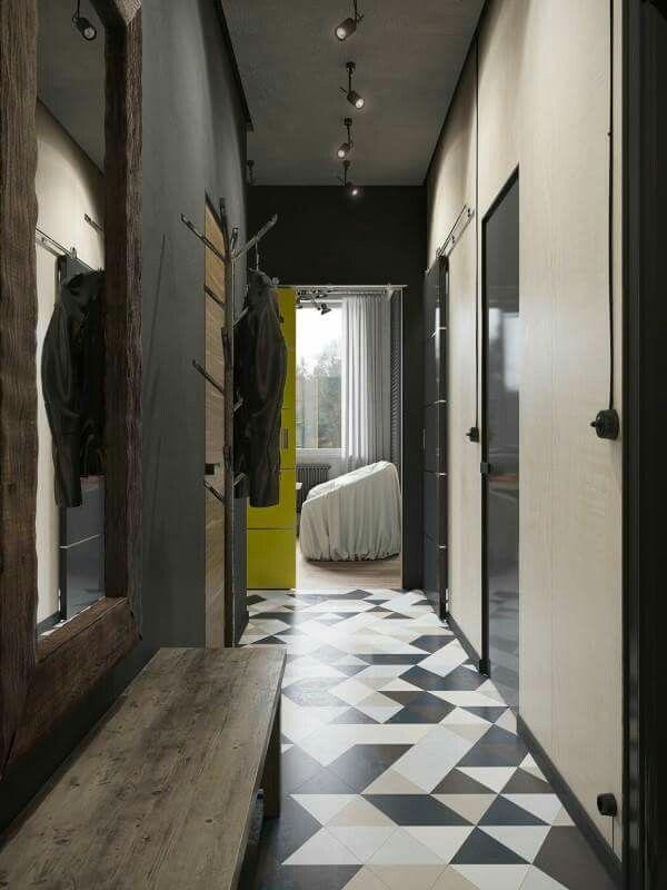 Geometric tiles TILES Pinterest - holz stahl interieur junggesellenwohnung