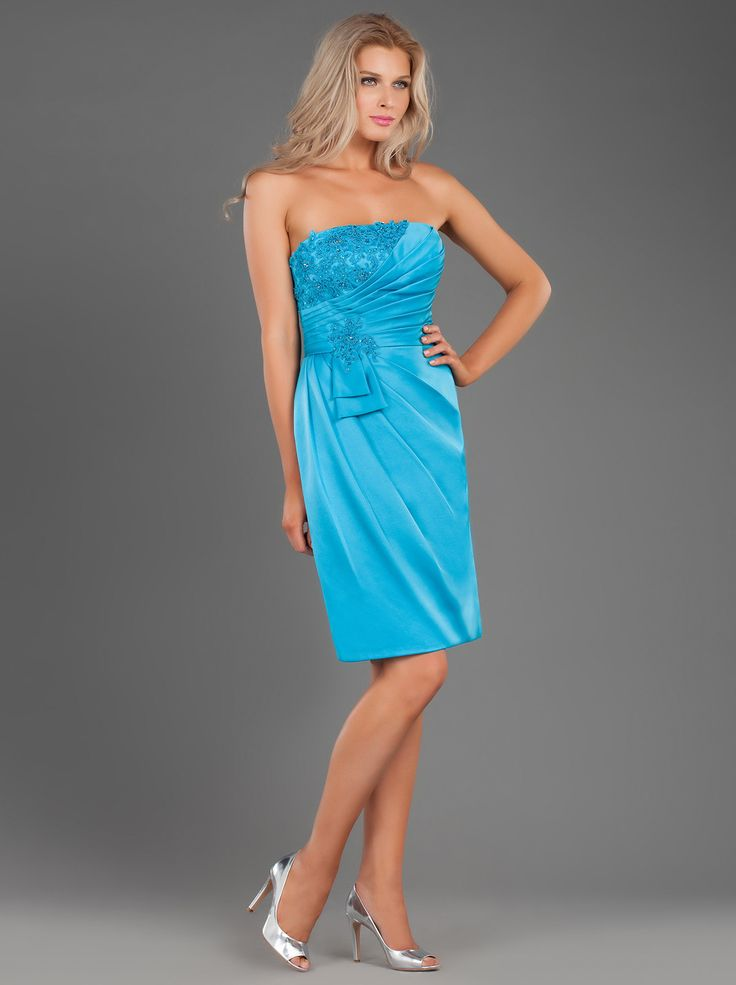 Short Evening Satin Dress with Beading!!! http://mikael.gr/en/new-collection/41156.html