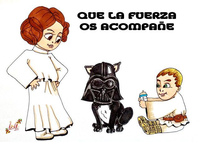 HOMENAJE A STAR WARS. EL DESPERTAR DE LA FUERZA .Icalle ilustracion