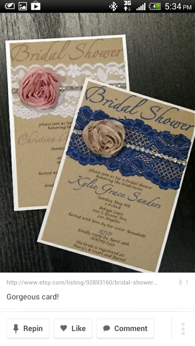 22 best Tea Party Bridal Shower Invitations images on Pinterest ...