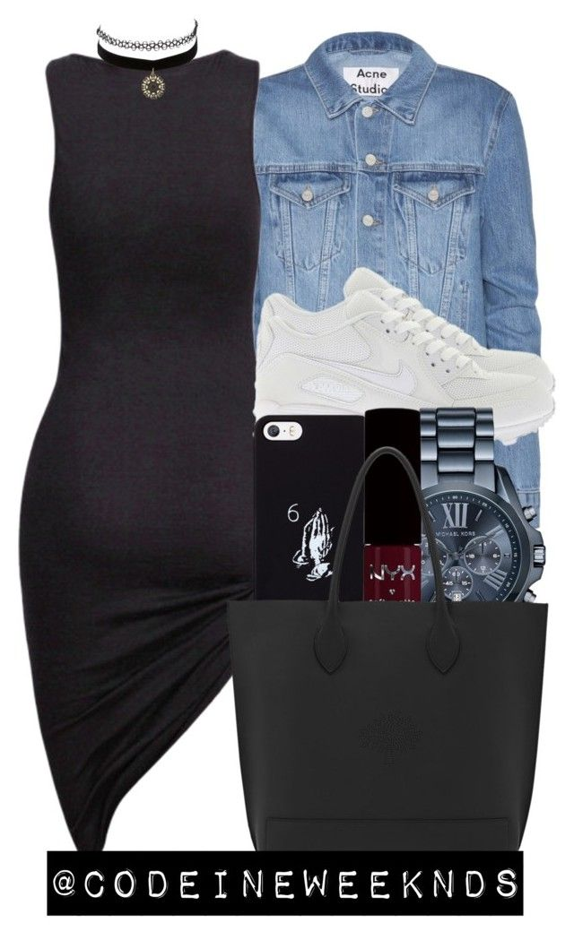 9:7:15/My Birthday is tomorrow ☺️ by codeineweeknds on Polyvore featuring polyvore, fashion, style, Acne Studios, Mulberry, Michael Kors, Charlotte Russe, October's Very Own and NIKE