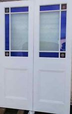 Pair - Internal French Doors - Handmade to Measure - Beautiful Stained Glass