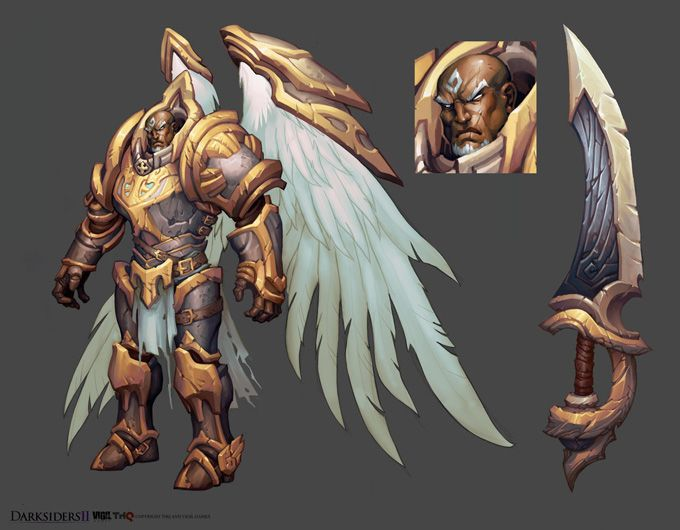 Tyrael? is that you?    Concept Art World » Darksiders II Concept Art by Avery Coleman