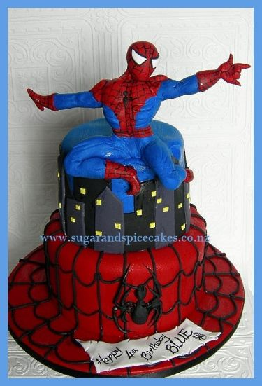 Spiderman Cake Superhero Birthday Party Spice Cake