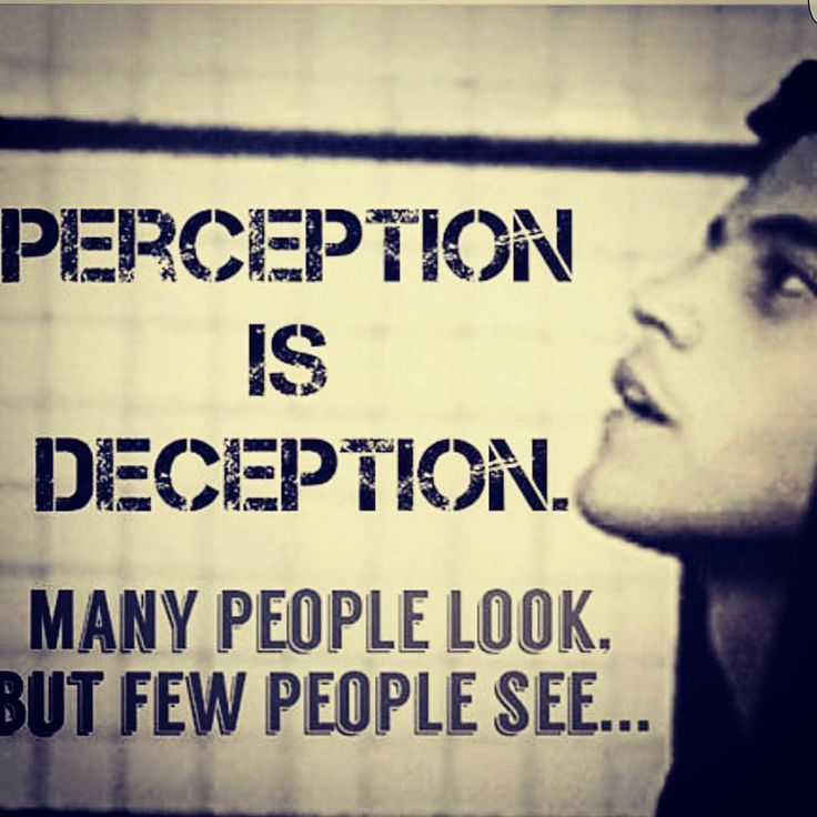 Perception is Deception                                                                                                                                                                                 More