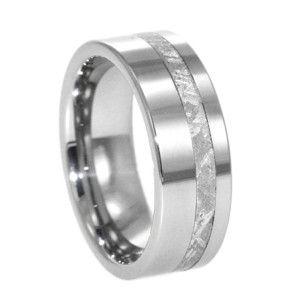 Tungsten Meteorite Rings Wedding