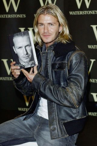 40 photos of David Beckham's style evolution through the years.