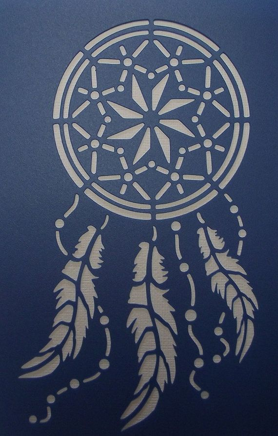 Dream Catcher 02 Stencil by kraftkutz on Etsy