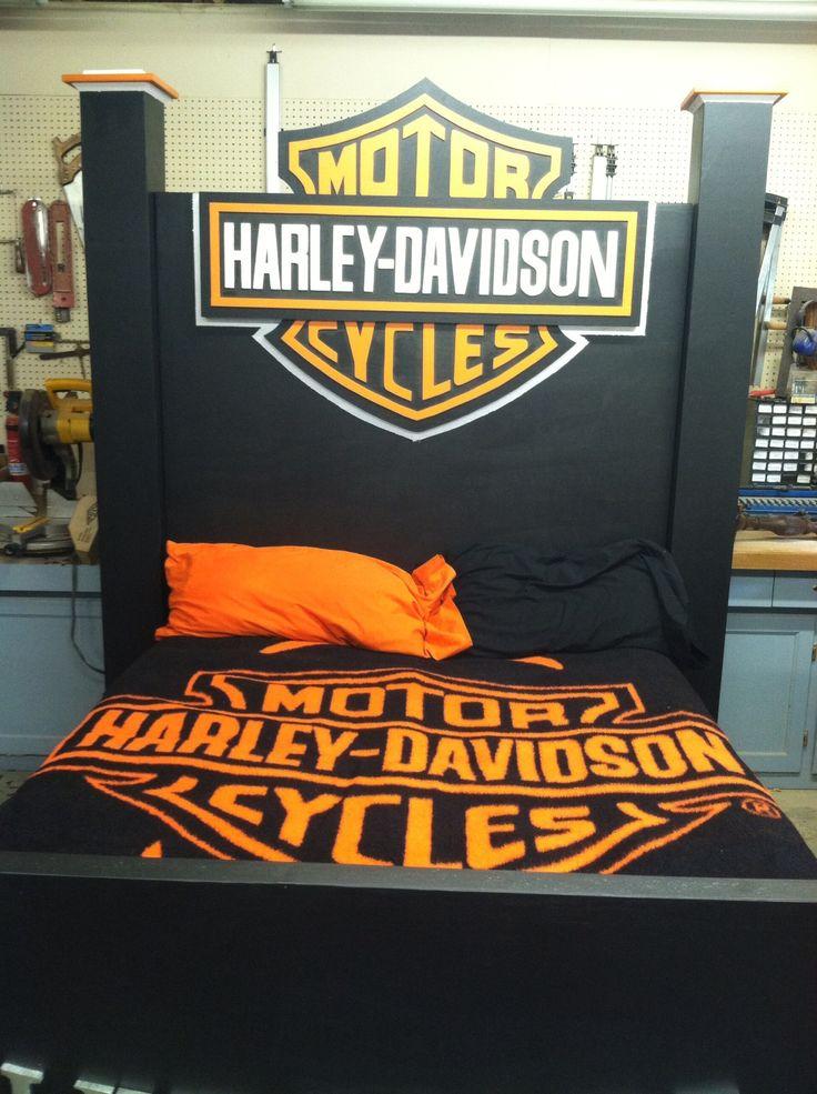 75 queen size harley davidson bed