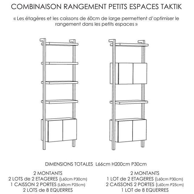 image etag res lot de 2 pour syst me de rangement taktik. Black Bedroom Furniture Sets. Home Design Ideas