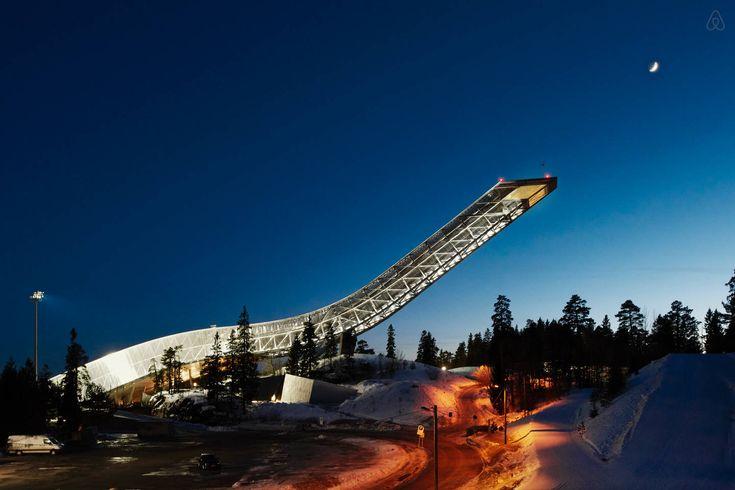une chambre dhôtel en haut dune rampe de saut à ski  2Tout2Rien
