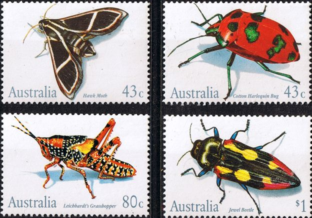 how to see watermarks on australian stamps