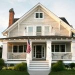 craftsman house numbers porch in Exterior Beach with cartage balcony