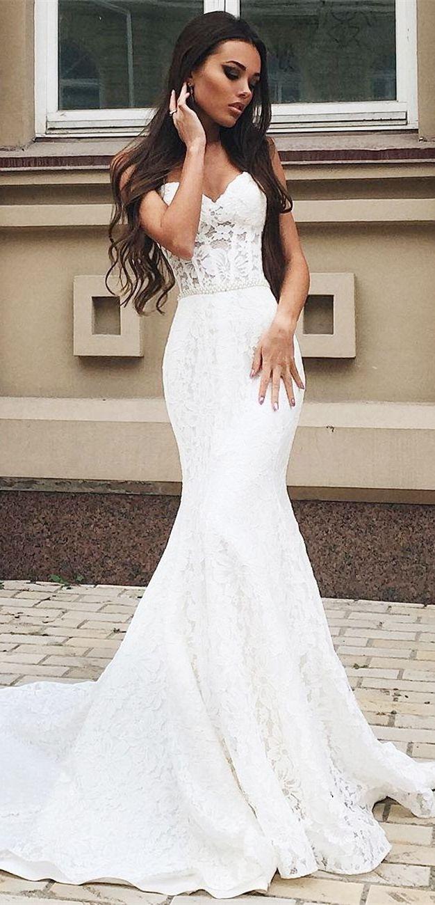Vintage White Mermaid Wedding Dresses For Bride Sweetheart Spring Wedding Dresses Wedding Dresses Mermaid Sweetheart Wedding Dresses Lace Mermaid Wedding Dress [ 1300 x 626 Pixel ]