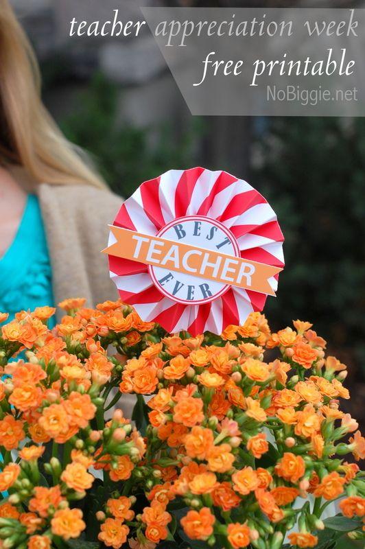 teacher appreciation free printable on NoBiggie.net