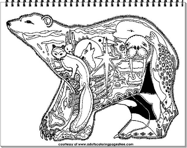 43 best Animals Coloring Pages For Adults images on Pinterest ...