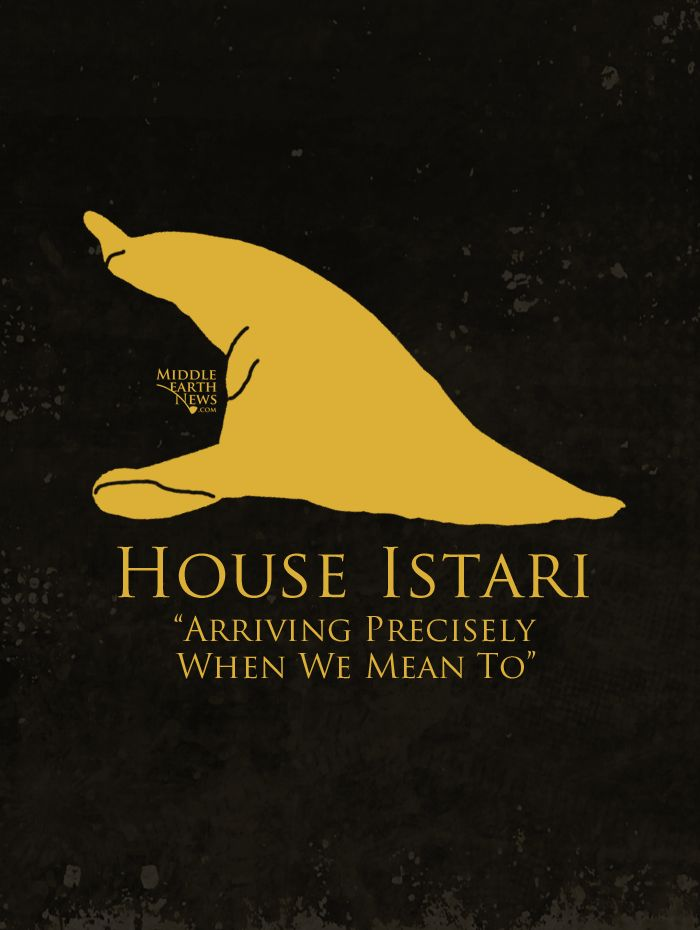 If Lord of the Rings Families had Game of Thrones-style sigils: The Wizards
