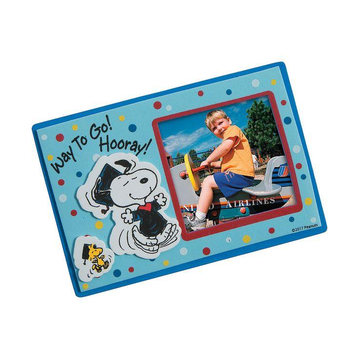 Peanuts®+Graduation+Picture+Frame+Magnet+Craft+Kit+-+OrientalTrading.com