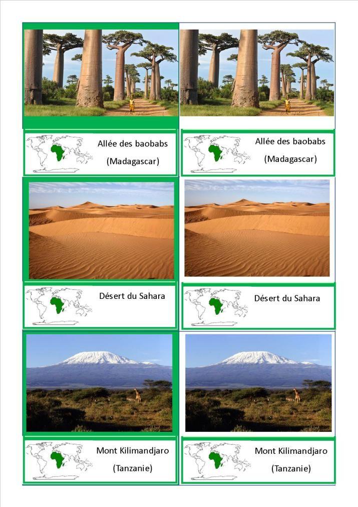 cartes nomenclature paysages Afrique                                                                                                                                                                                 Plus