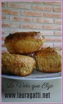 Muffins de avena y coco sin harina de trigo