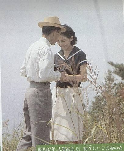 Japanese Emperor Akihito and Empress Michiko (1962)。昭仁天皇陛下と美智子皇后陛下。1962年。
