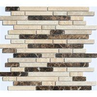 Faber 12-in x 14-in Sandalwood Freeway Blends Mosaic Natural Stone Wall Tile