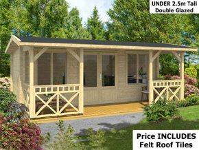 Shere Garden Log Cabins. Wood Cabin Woking Show Site