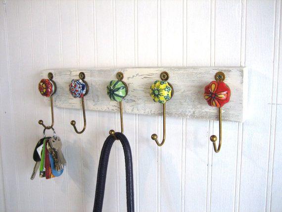Wall Hooks Jewelry Rack Key Ring Holder By Auntdedesbat 32 00