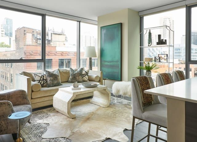 A Chic Chicago High Rise Apartment Mixes Modern Glam And