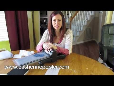 How to Use Big Shot Die Cutting Machine Video Tutorial  www.catherinepooler.com
