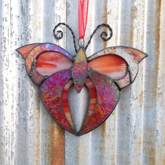 92 best stained glass images on pinterest stained glass for Butterfly stained glass craft