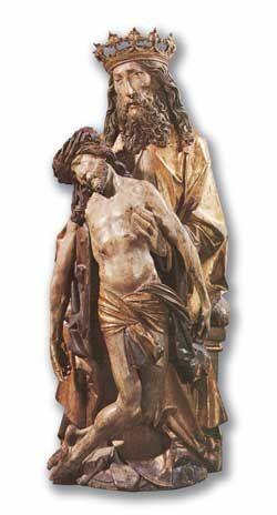 Le Père soutient le corps de Jésus-Christ, sculpture de bois, Tilman Riemenschneider, Musée National, Berlin