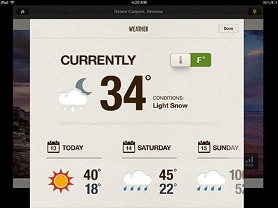 Weather on iPad  by Rally Interactive (via Ben Cline)