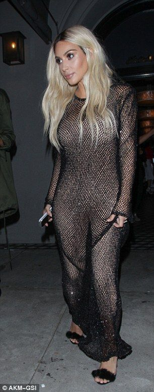 Blonde bombshell: The Keeping Up With The Kardashians favourite resurrected her blonde locks for the occasion