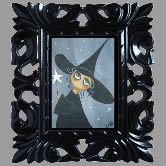 Dark Fantasy Witch Art Print The Good Witch 8x10 by RusticGoth, $18.00