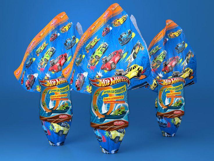 Dolfin - pasqua 2014 - Uova Hotwheels Easter eggs - Hot Wheels - packaging Blender + photoshop