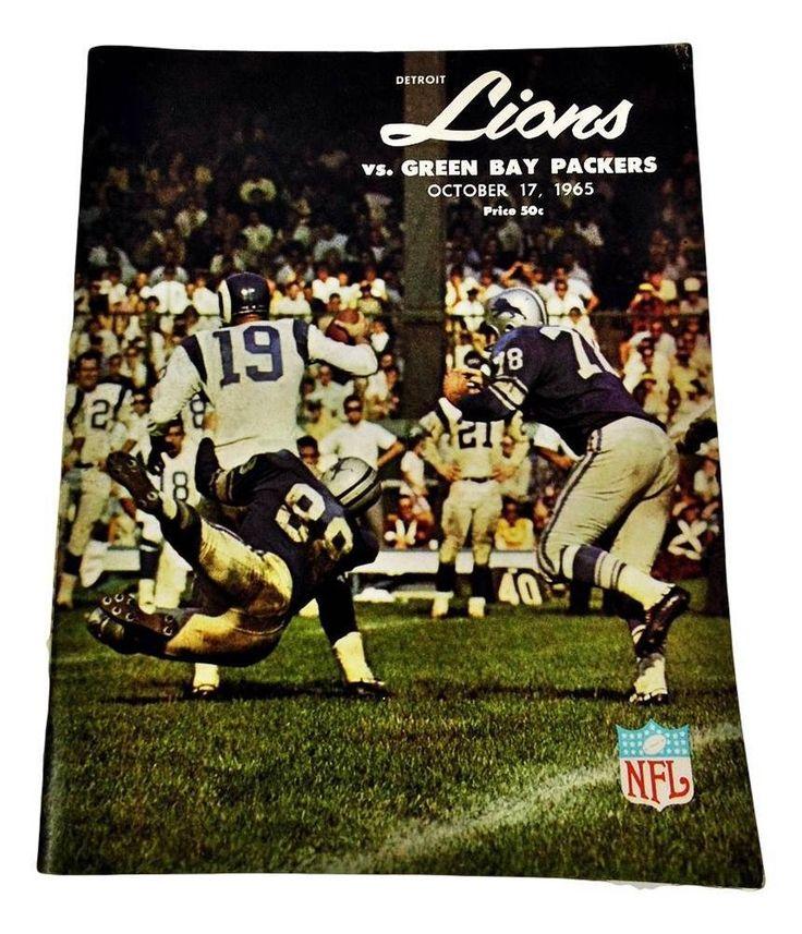 1966 Detroit Lions Football Program    V Green Bay Packers football NFL Michigan #DetroitLions