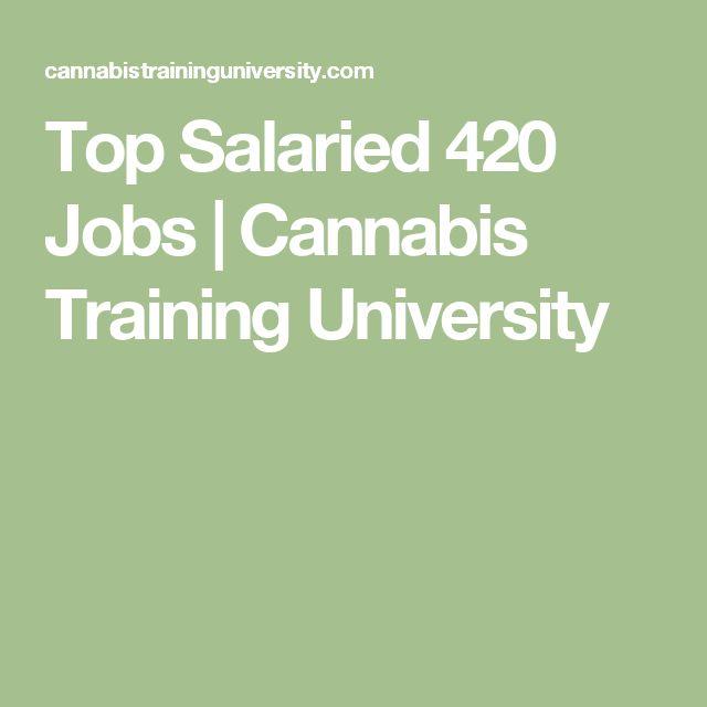 Top Salaried 420 Jobs   Cannabis Training University
