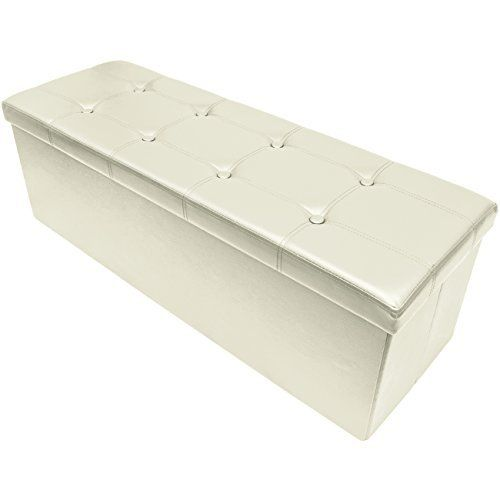 Ideal accent piece and storage item for any room in your home or office! The Sorbus® Storage Bench Chest is an attractive, functional, and sturdy accent piece and storage compartment. Finely crafted with superior faux leather, this multi-purpose furniture piece features cushioned padding for ... more details available at https://furniture.bestselleroutlets.com/accent-furniture/ottomans-storage-ottomans/product-review-for-sorbus-storage-bench-chest-collapsiblefolding-bench-ot