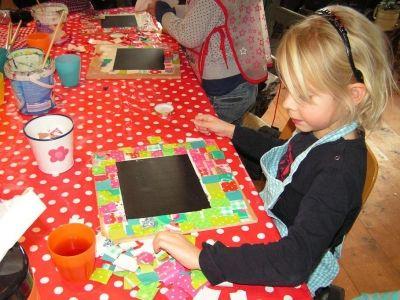 Kinderfeestje Krijtborden maken
