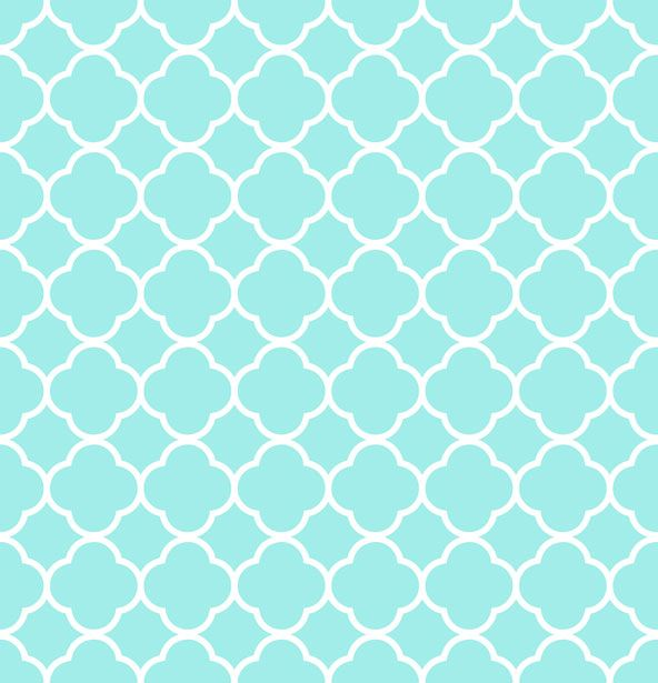Quatrefoil Pattern Background Blue