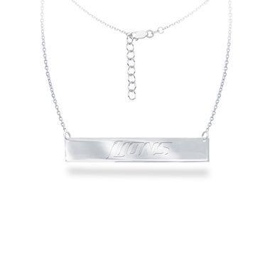 Detroit Lions Silver Necklace with Bar Pendant